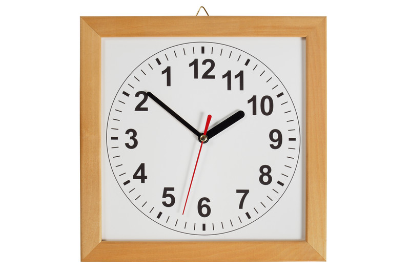 A backwards clock.