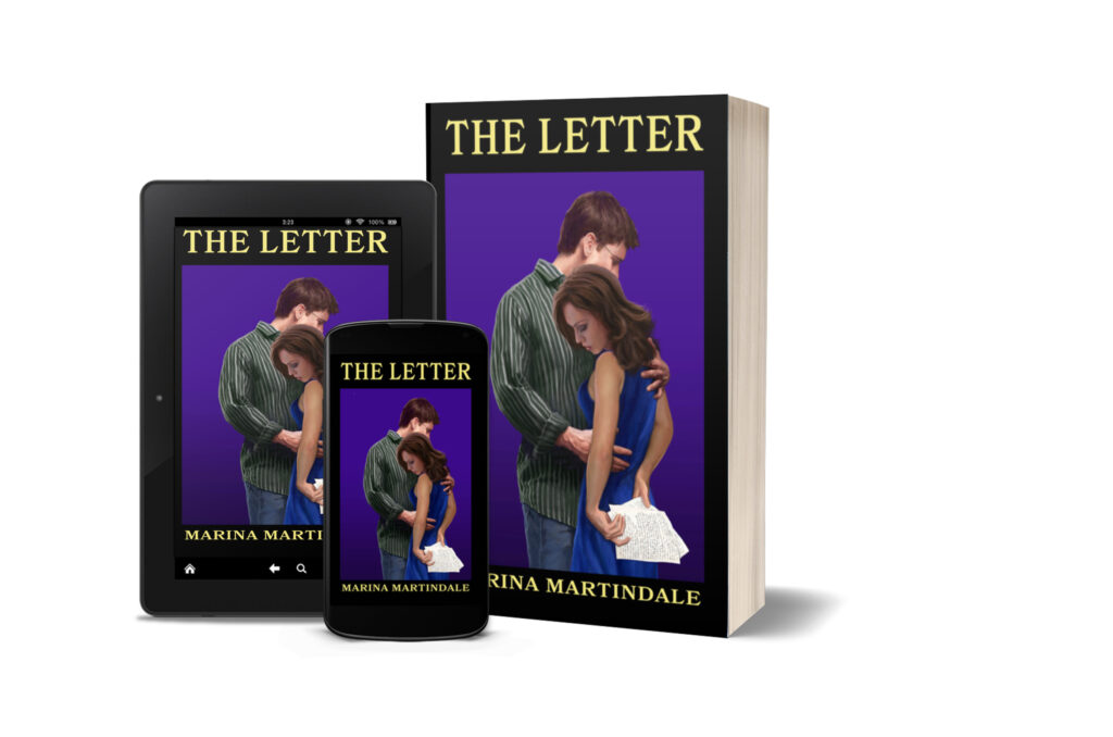 A composite photo of the book cover in paperback, electronic tablet and phone.