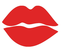 A graphic of a pair of red lips.